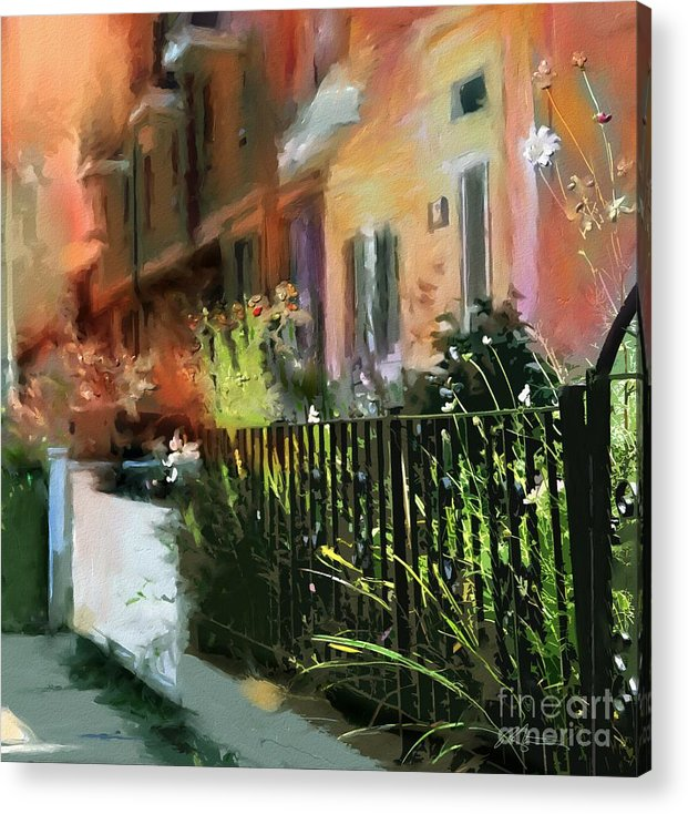 Toronto Acrylic Print featuring the painting Kensington Market District T.o. by Bob Salo