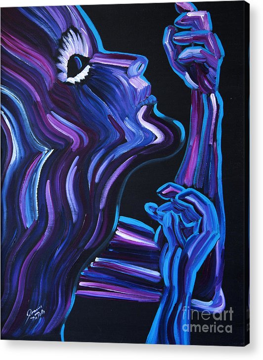 Figure Acrylic Print featuring the painting Reach by JoAnn DePolo