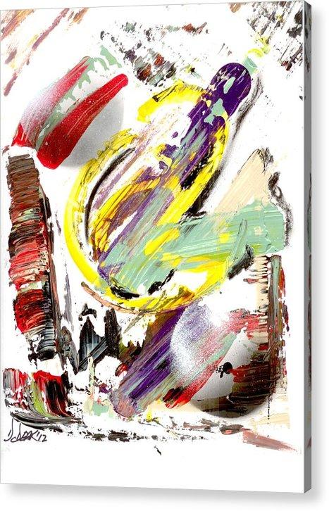 Original Art Acrylic Print featuring the painting Improve by David Deak