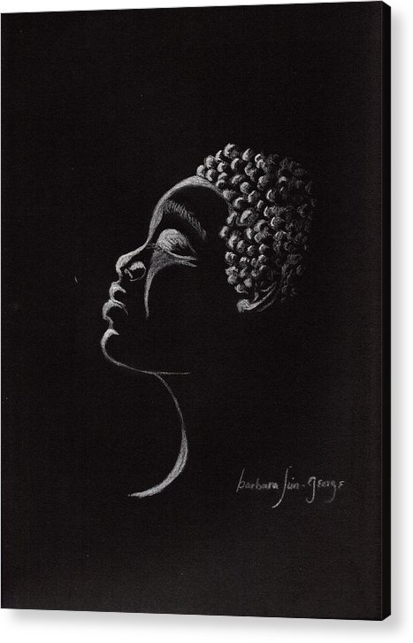 Acrylic Print featuring the drawing Midnight Prayers by Bee Jay