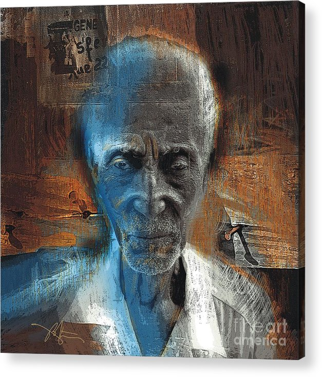 African American Acrylic Print featuring the painting Time Goes By by Bob Salo