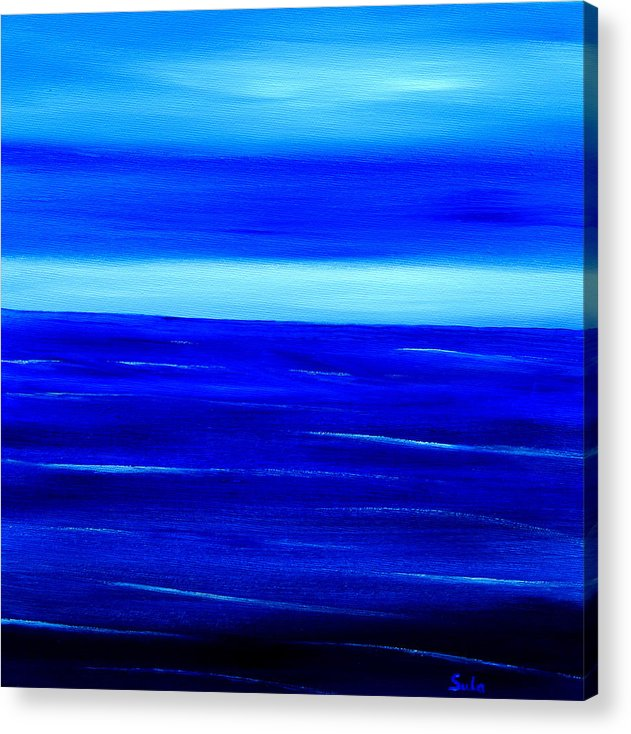 Caribbean Acrylic Print featuring the painting Turquoise Dawn by Sula Chance