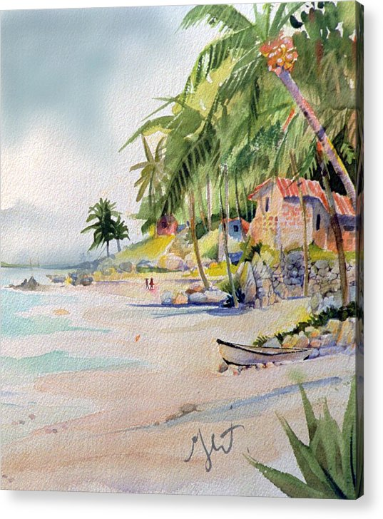 Island Acrylic Print featuring the painting Las Animas by Gertrude Palmer