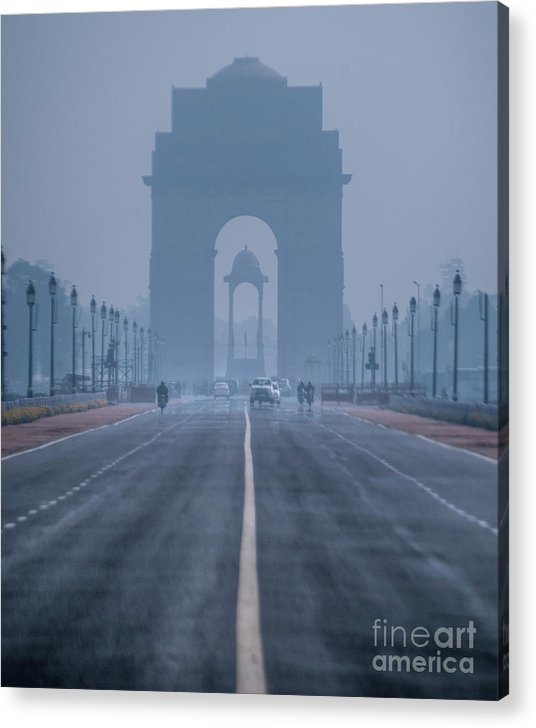 India Acrylic Print featuring the photograph India Gate by Nimit Nigam