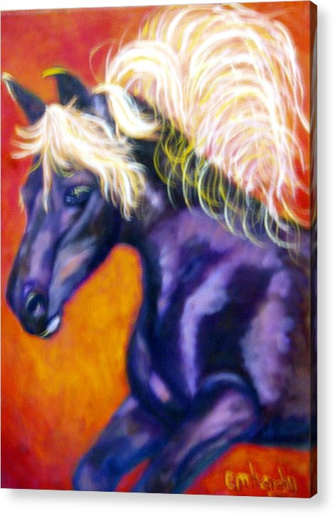 Acrylic Print featuring the painting A Good Race by Marie Hamby