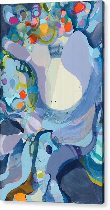 Abstract Acrylic Print featuring the painting 70 Degrees by Claire Desjardins