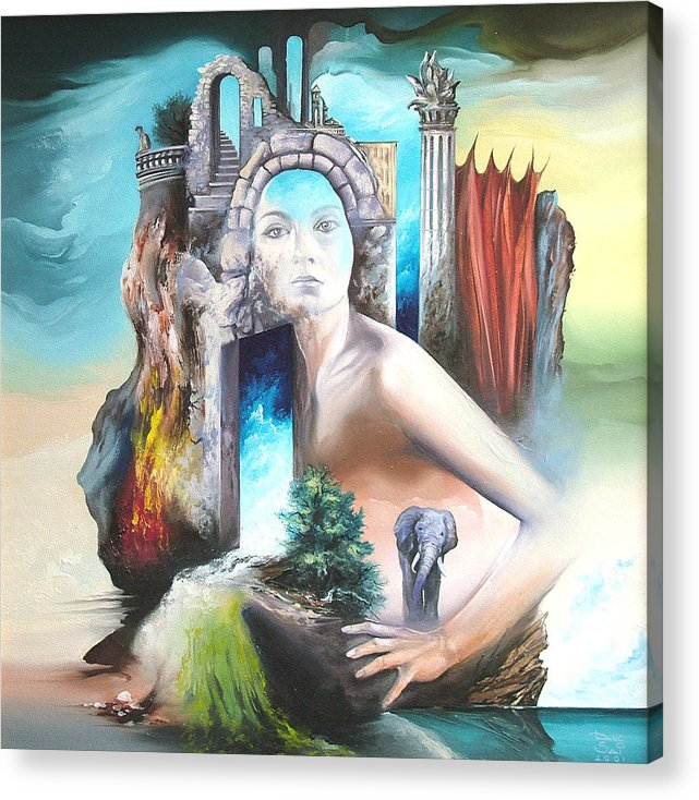 Acrylic Print featuring the painting Enchanted Island by Zoltan Ducsai