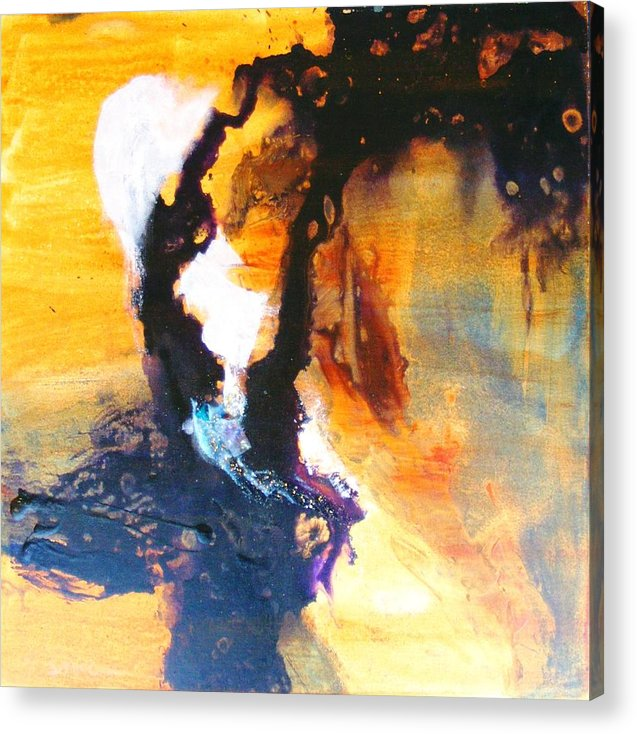 Cosmic Acrylic Print featuring the painting Gates Of Eden by Susan McCrae
