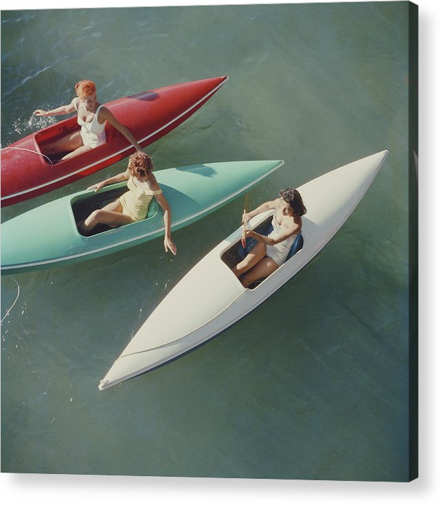 People Acrylic Print featuring the photograph Lake Tahoe Trip by Slim Aarons