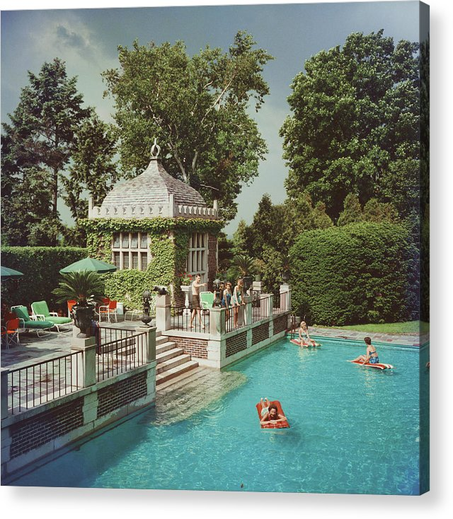 Swimming Pool Acrylic Print featuring the photograph Family Pool by Slim Aarons