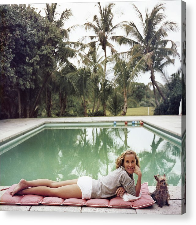 Pets Acrylic Print featuring the photograph Having A Topping Time by Slim Aarons