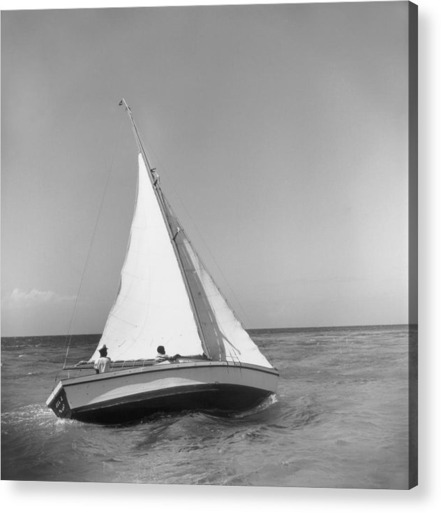 1950-1959 Acrylic Print featuring the photograph Jamaica Sea Sailing by Slim Aarons