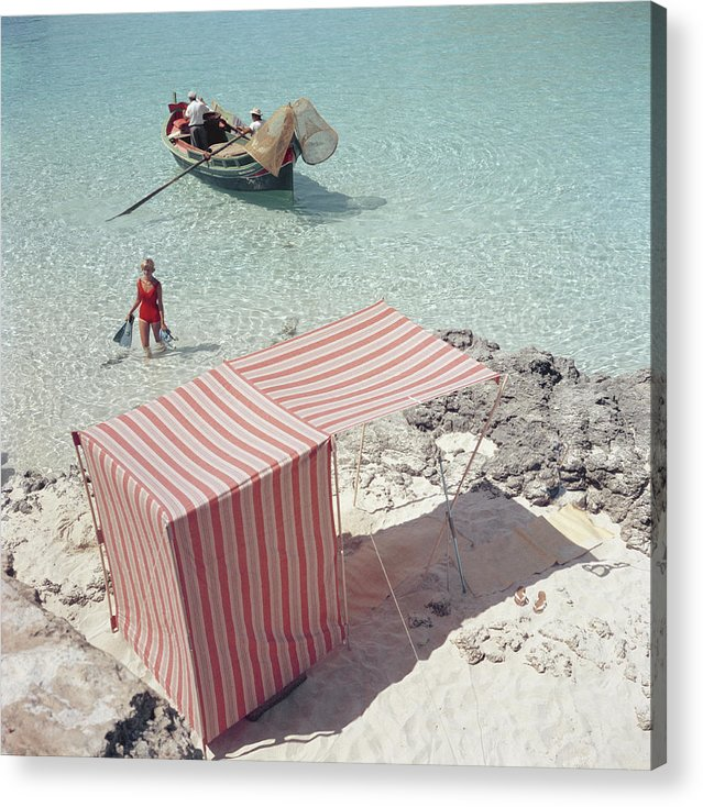 People Acrylic Print featuring the photograph Marietine Birnie, Blue Lagoon by Slim Aarons