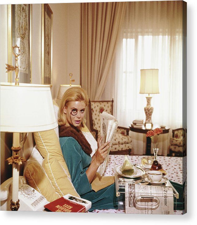 People Acrylic Print featuring the photograph Monocled Miss by Slim Aarons