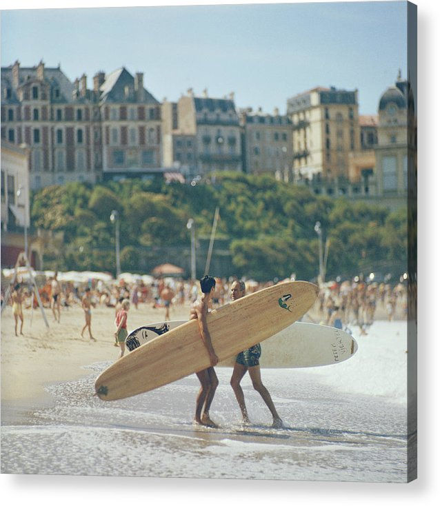 People Acrylic Print featuring the photograph Peter Viertel by Slim Aarons