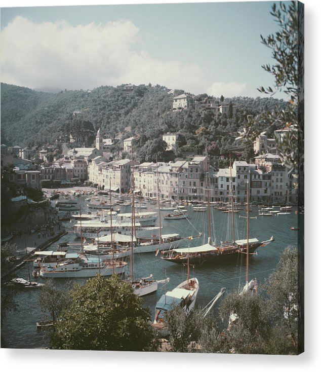 1950-1959 Acrylic Print featuring the photograph Portofino by Slim Aarons