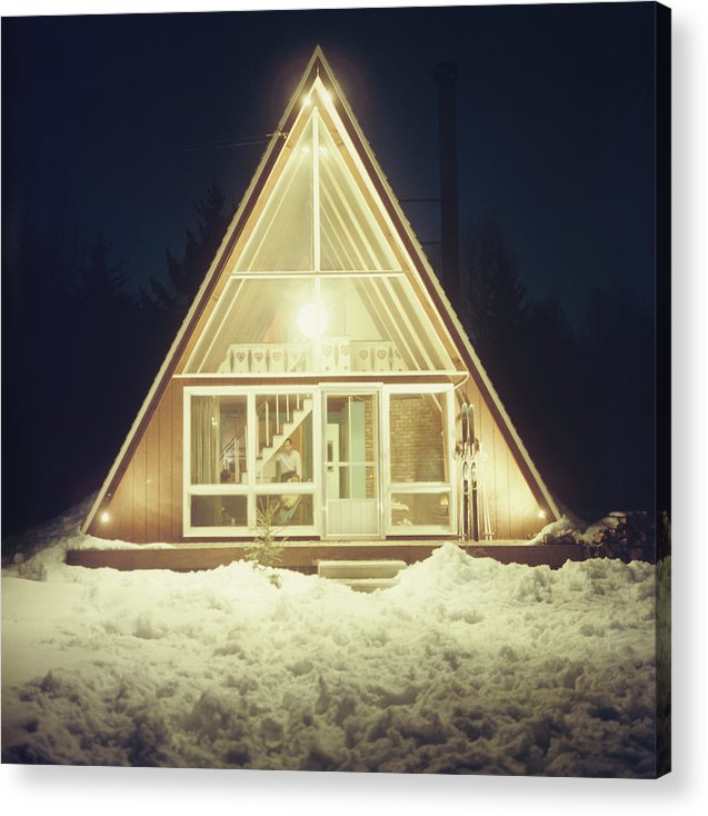 Triangle Shape Acrylic Print featuring the photograph Skaal House In Stowe by Slim Aarons