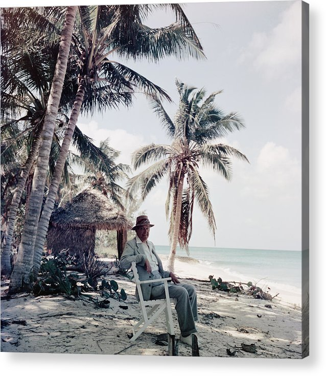 Beach Hut Acrylic Print featuring the photograph T. S. Eliot by Slim Aarons