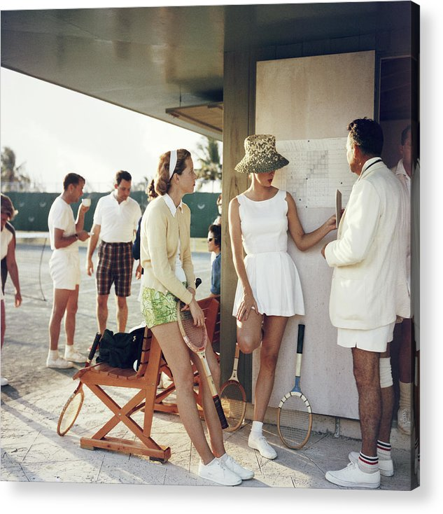 Tennis Acrylic Print featuring the photograph Tennis In The Bahamas by Slim Aarons
