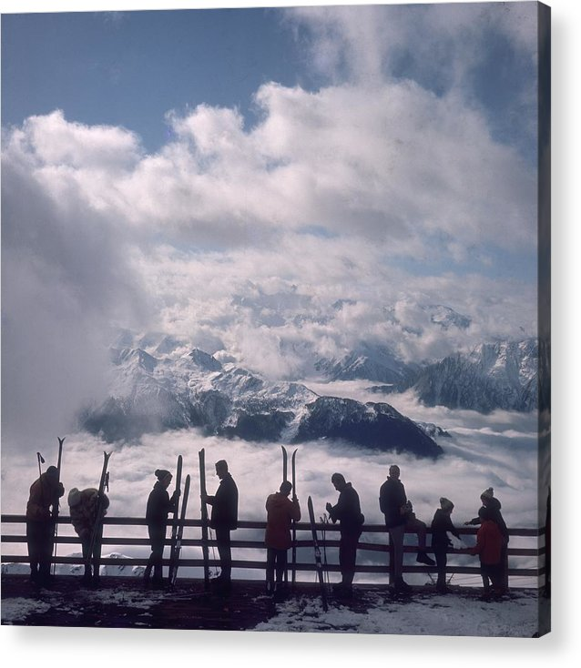 Scenics Acrylic Print featuring the photograph Verbier View by Slim Aarons