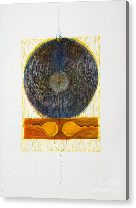 Acrylic Print featuring the drawing Reciprocal End by Asma Hashmi