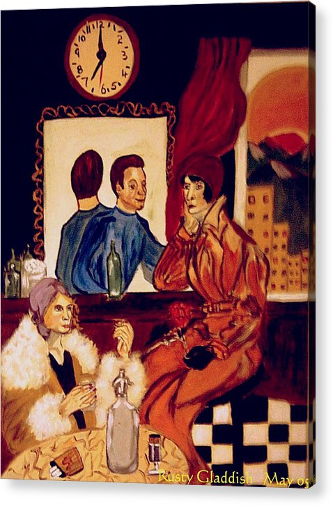 1920s Acrylic Print featuring the painting Barflies by Rusty Woodward Gladdish