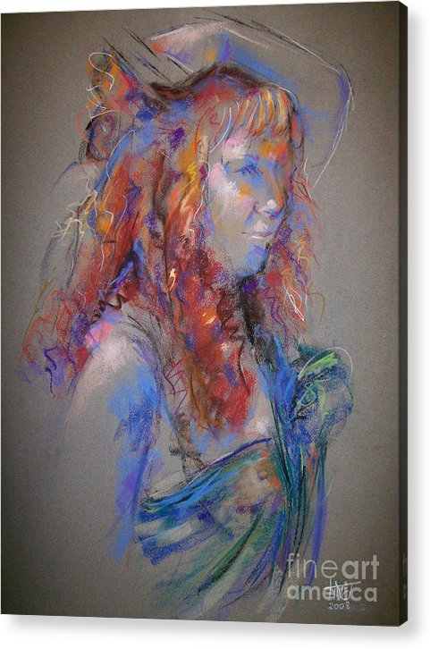 Figurative Acrylic Print featuring the painting Emerald by Tina Siddiqui