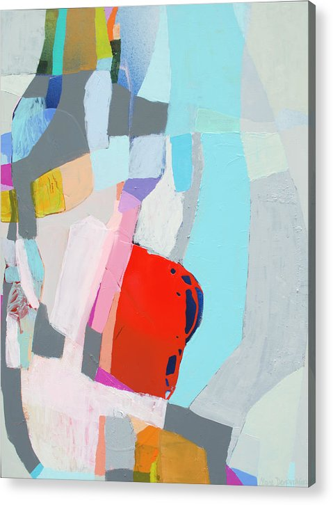 Abstract Acrylic Print featuring the painting For What You Are by Claire Desjardins