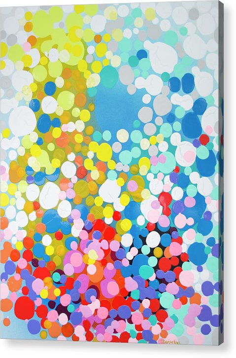 Abstract Acrylic Print featuring the painting Infatuation by Claire Desjardins