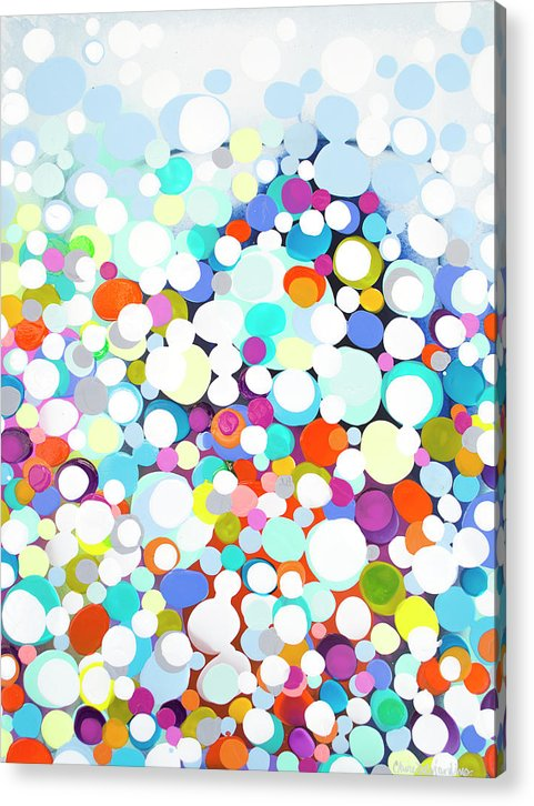 Abstract Acrylic Print featuring the painting Just For Fun by Claire Desjardins