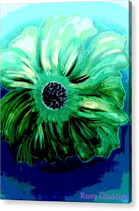 Design Acrylic Print featuring the painting La Flora by Rusty Woodward Gladdish