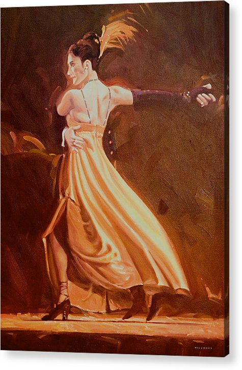 Dance Acrylic Print featuring the painting Tango 2 by Charles Willmott