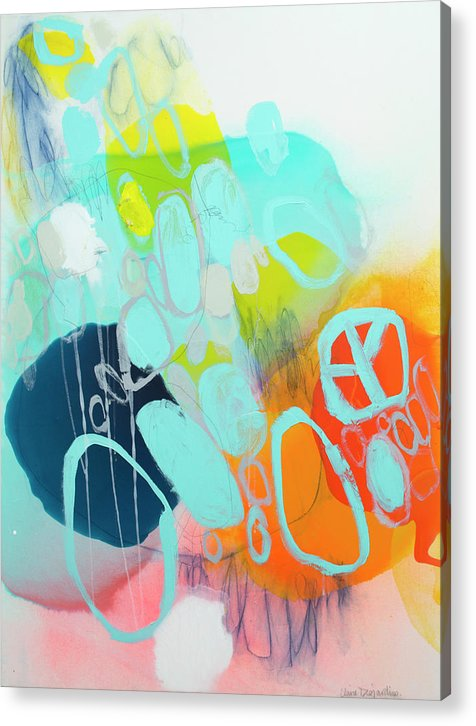 Abstract Acrylic Print featuring the painting The Right Thing by Claire Desjardins
