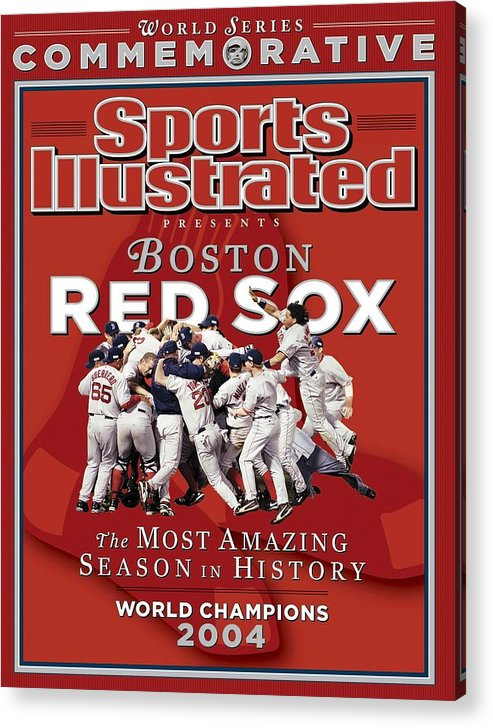 St. Louis Cardinals Acrylic Print featuring the photograph Boston Red Sox Vs St. Louis Cardinals, 2004 World Series Sports Illustrated Cover by Sports Illustrated