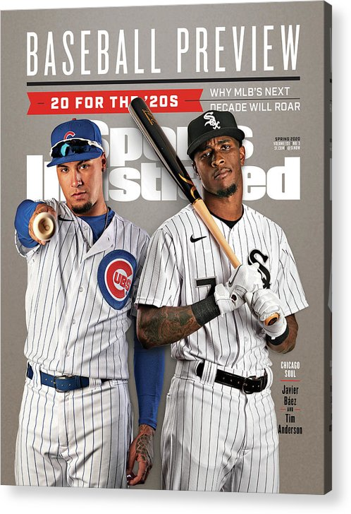 Magazine Cover Acrylic Print featuring the photograph Chicago Cubs Javier Baez And Chicago White Sox Tim Sports Illustrated Cover by Sports Illustrated