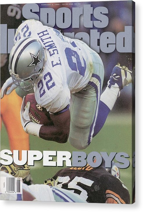 Emmitt Smith Acrylic Print featuring the photograph Dallas Cowboys Emmitt Smith, Super Bowl Xxx Sports Illustrated Cover by Sports Illustrated