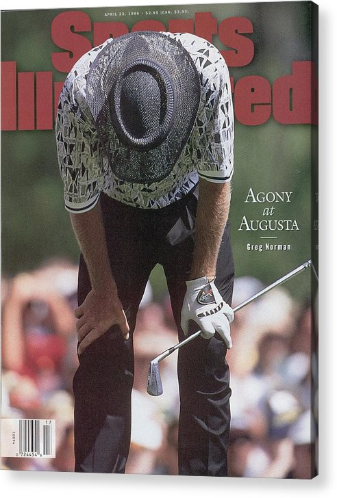 Magazine Cover Acrylic Print featuring the photograph Greg Norman, 1996 Masters Sports Illustrated Cover by Sports Illustrated