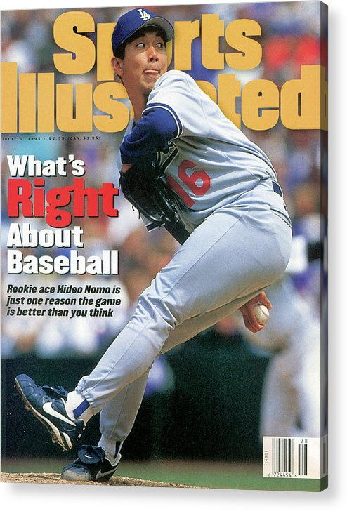 Magazine Cover Acrylic Print featuring the photograph Los Angeles Dodgers Hideo Nomo... Sports Illustrated Cover by Sports Illustrated