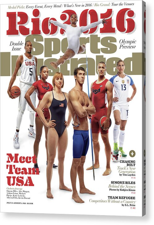 Magazine Cover Acrylic Print featuring the photograph Meet Team Usa 2016 Rio Olympic Games Preview Sports Illustrated Cover by Sports Illustrated