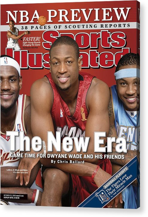 Magazine Cover Acrylic Print featuring the photograph Miami Heat Dwyane Wade Sports Illustrated Cover by Sports Illustrated