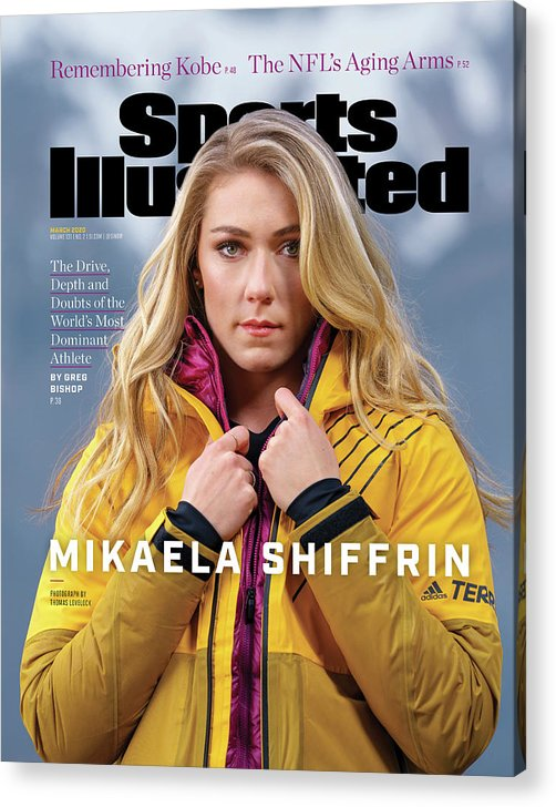 Skiing Acrylic Print featuring the photograph Mikaela Shiffrin, Sports Illustrated, March 2020 Sports Illustrated Cover by Sports Illustrated