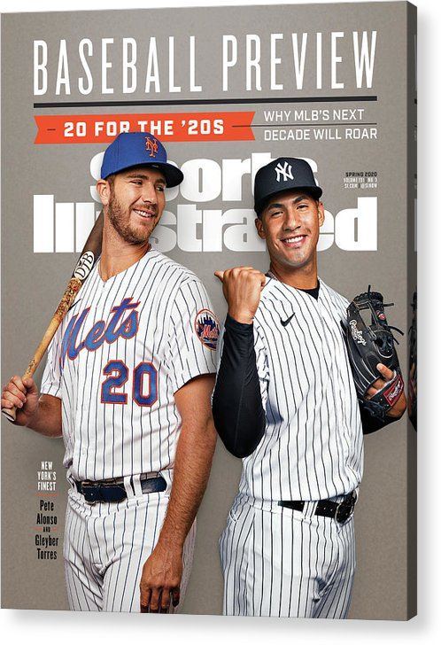 Magazine Cover Acrylic Print featuring the photograph New York Mets Pete Alonso And New York Yankees Gleyber Sports Illustrated Cover by Sports Illustrated