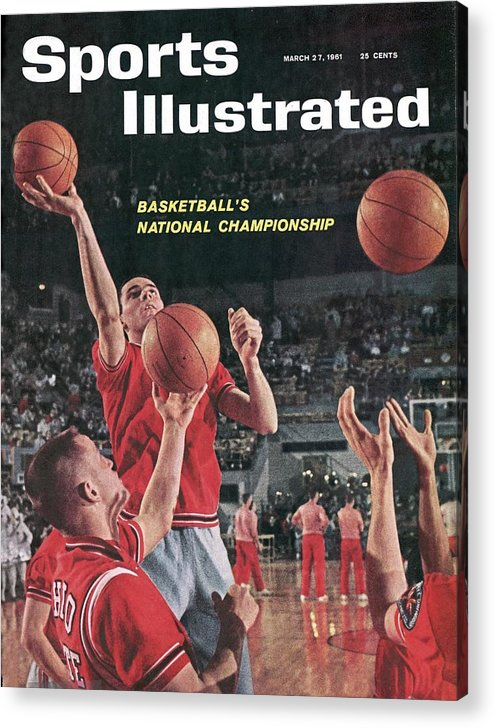 Magazine Cover Acrylic Print featuring the photograph Ohio State Jerry Lucas... Sports Illustrated Cover by Sports Illustrated