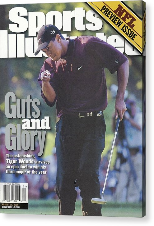 Magazine Cover Acrylic Print featuring the photograph Tiger Woods, 2000 Pga Championship Sports Illustrated Cover by Sports Illustrated