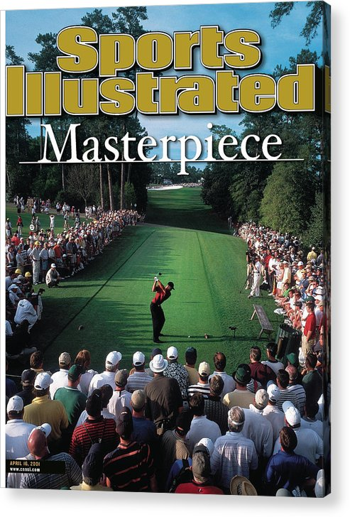 Magazine Cover Acrylic Print featuring the photograph Tiger Woods, 2001 Masters Sports Illustrated Cover by Sports Illustrated