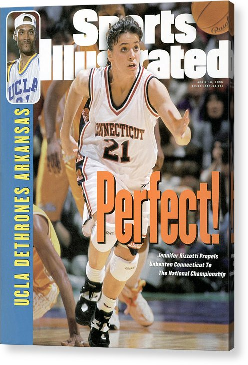 Magazine Cover Acrylic Print featuring the photograph University Of Connecticut Jennifer Rizzotti, 1995 Ncaa Sports Illustrated Cover by Sports Illustrated