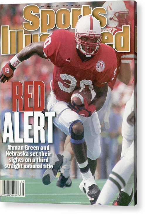 Michigan State University Acrylic Print featuring the photograph University Of Nebraska Ahman Green Sports Illustrated Cover by Sports Illustrated