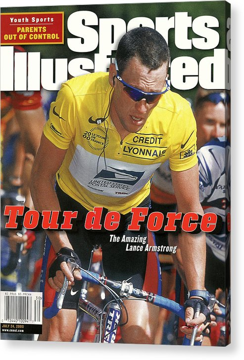 Magazine Cover Acrylic Print featuring the photograph Us Postal Service Team Lance Armstrong, 2000 Tour De France Sports Illustrated Cover by Sports Illustrated