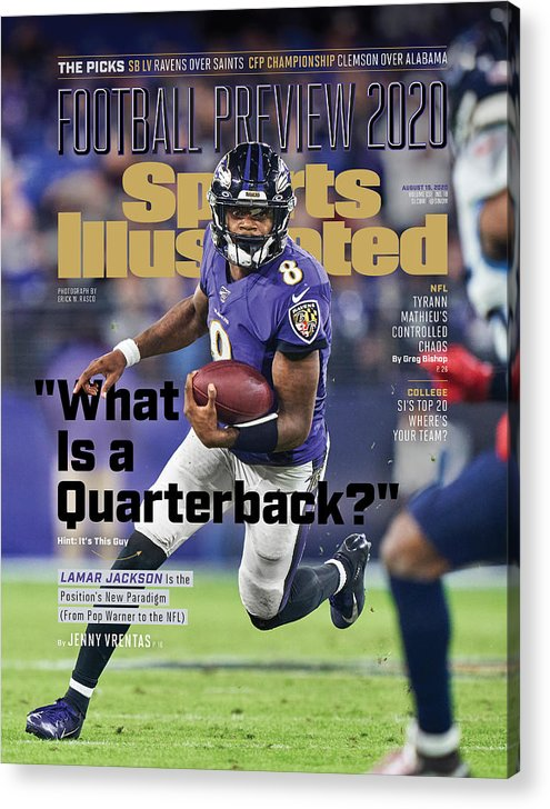 Sports Illustrated Acrylic Print featuring the photograph 2020 Football Preview Sports Illustrated Cover by Sports Illustrated