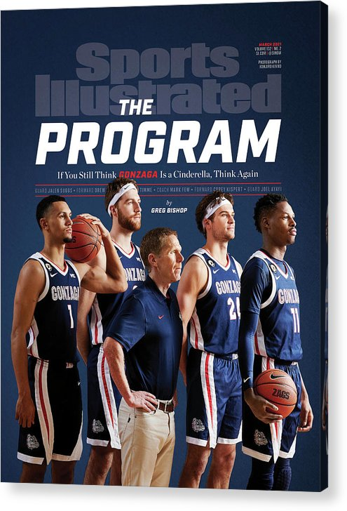 Gonzaga Acrylic Print featuring the photograph Gonzaga The Program cover by Sports Illustrated